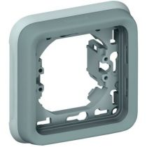 Support plaque - pour encastré Prog Plexo composable gris - 1 poste