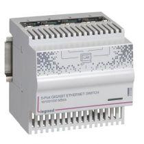Switch éthernet mobile - 4 sorties RJ 45 - 1 Giga - IP 20 - IK 04 - 4 mod.
