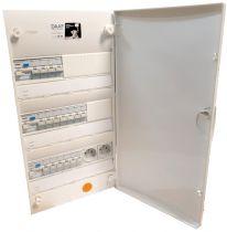 Tableau électrique équipé précablé 3 rangées + porte (TMC3R)