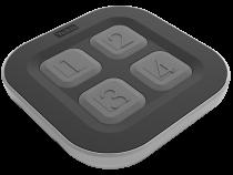 Télécommande galet 4 touches power (GALET4TP)