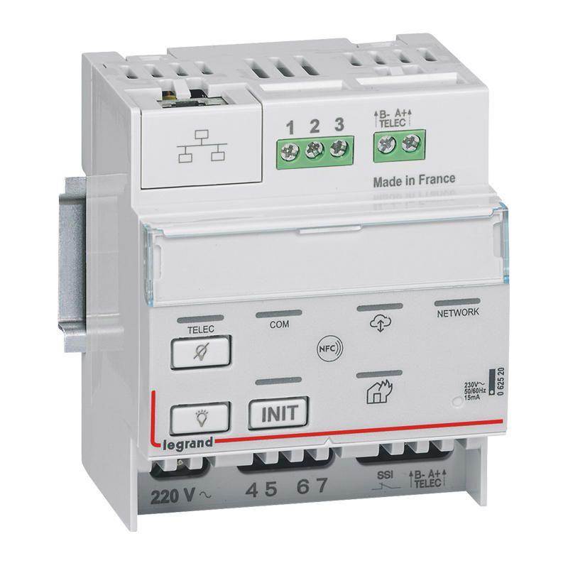 Télécommande modulaire multifonctions connectée non polarisée IP pour bloc d\'éclairage et alarme incendie (062520)