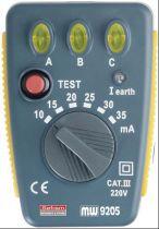 Testeur de Prise de courant et Disjoncteurs différentiels (9205)