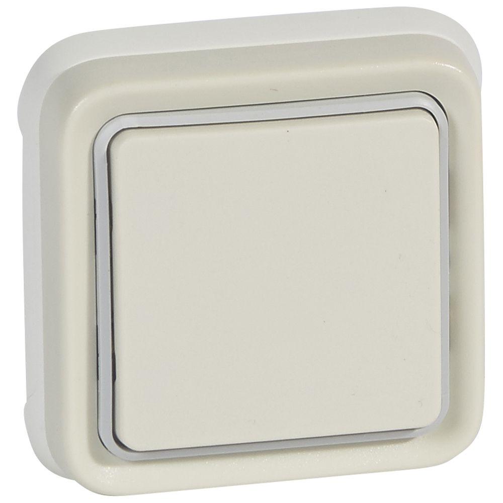 Va-et-vient Prog Plexo complet encastré blanc - 10 AX