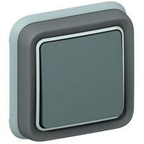Va-et-vient Prog Plexo complet encastré gris - 10 AX